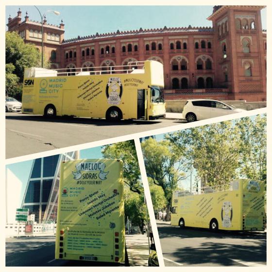 Fotografía el autobús de 'Maeloc' y Madrid Music City y consigue dos entradas VIP dobles para el Madrid Music City!